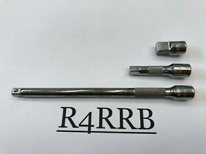 Snap on Tools Usa Nl 3 Piece 1 4 Drive Chrome Friction Ball Extension Lot Set