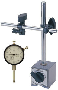 Mitutoyo 64pka079 Magnetic Stand With Dial Indicator 1 Travel 0 001