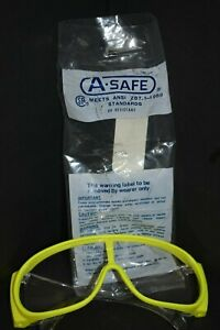 Lot Of 4 Safety Glasses A safe Meets Ansi Yellow Clear Lense