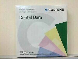 10 X Coltene Whaledent Dental Rubber Dam Sheets Non latex Extra Strength