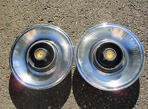 Genuine 1965 Chrysler Imperial 15 Inch Hubcaps Wheel Covers