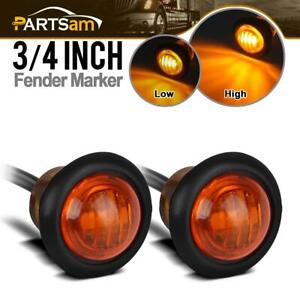 2pcs 3 4 Led Marker Clearance Light Turn Signal Light 3diode Amber Light 3 Wire