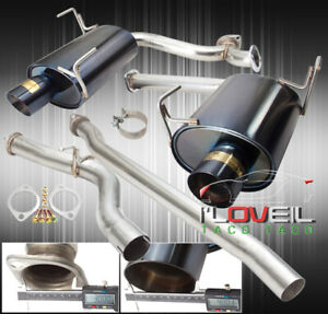 Stainless Steel Catback Exhaust 76mm 4 Muffler Tip For 08 14 Subaru Wrx Sedan