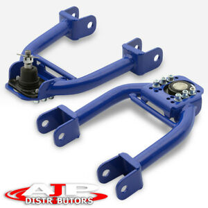 Blue Adjustable Front Upper Control Arms Camber Kit For 1992 1995 Honda Civic Eg