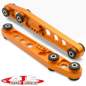 Gold Rear Aluminum Suspension Lower Control Arms Lca For Integra Civic Crx