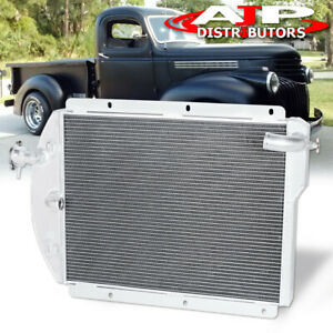 3 Row Core Engine Oil Cooling Racing Radiator For 1941 1946 Chevy Pickup Truck