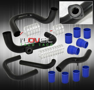 For 92 95 Civic Eg6 D16 D Series Turbo Charger Aluminum Piping Kit Bov Adapter