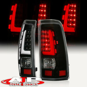 Black White Tube Led Tail Lights Lamps Left Right For 1999 2006 Silverado Sierra