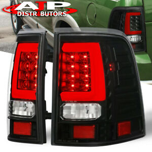 Black Clear Red Tube Led Stop Tail Lights Lamp Lh Rh For 2002 2005 Ford Explorer