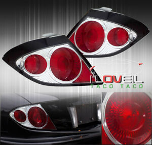 03 05 Pontiac Sunfire Base Se Gt Coupe Altezza Tail Lights Chrome Housing Pair