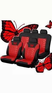 Universal Car Seat Cover Butterfly Set