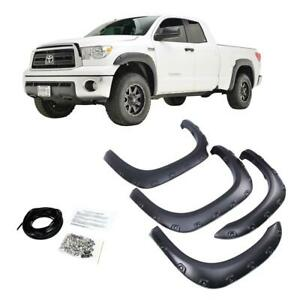 Fender Flares For 2007 2013 Toyota Tundra 4pc Wheel Cover Set Textured Black