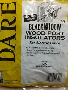 Dare Black Widow Electric Fence Insulators For Wooden Posts 25pk Bw wp 25