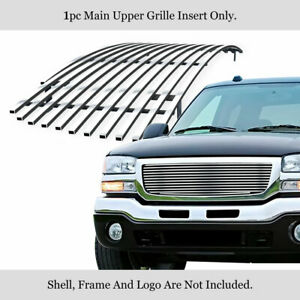 Fits 2003 2006 Gmc Sierra 1500 2500 3500 07 Classic Main Stainless Billet Grille