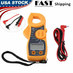 Digital Clamp Meter Multimeter Ac Voltmeter Volt Ohmamp Tester Lcd Screen