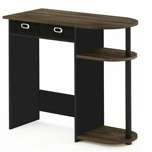 Porch Den Baruch Laptop And Notebook Computer Desk Columbia Walnut black Small