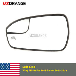Heated Lh Side Rear View Wing Mirror Glass For Ford Fusion 2013 2020 Driver Usa