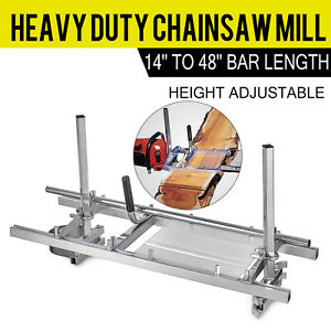 Portable Chainsaw Mill 48 Inch Planking Milling 14 To 48 Guide Bar