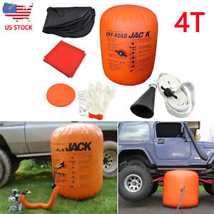 4t Ton Exhaust Inflatable Air Jack Bag Gas Jack 4x4 Lifting Air Jack Suv Set Us