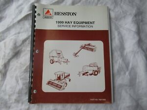 1999 Agco Hesston Hay Equipment Service Information Manual Baler Windrower Rakes