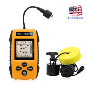 Fish Finder 100M LCD Alarm Sonar Depth Sensor Portable Fishfinder Transducer