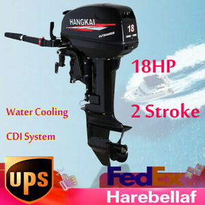 18hp 2 Stroke Outboard Fish Boat Engine 246cc Water Cooling Cdi System 40cm Usa