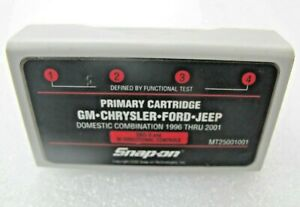 2001 Snap On Mt2500 Mtg2500 Scanner Primary Cartridge Covers Gm Chry Ford Jeep