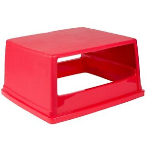 Rubbermaid Fg256v00 Red Top W o Doors For 256b Glutton Container Free Shipping