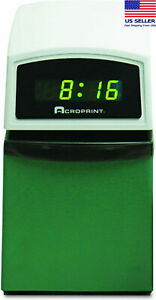 new Genuine Acroprint Time Clock And Recorder acp016000001 Green