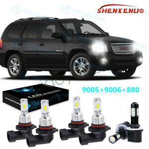 6x For Gmc Envoy Xl 2002 2006 9005 9006 880 Headlight Foglight Led Combo Bulbs