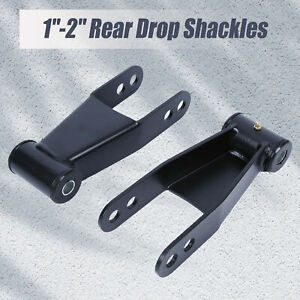 For Chevy Silverado 2 Drop Shackles 1999 07 Chevrolet Gmc Lowering Kit Parts