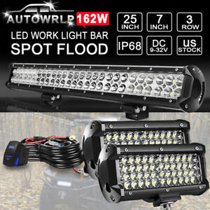 Roof 25 Led Light Bar 7 Bumper Lights Or Polaris Rzr Rzr4 Xp900 1000 Atv 24