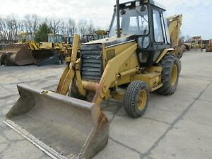 Caterpillar 416b Tractor Loader Backhoe Cab 2x4 Standard Hoe Low Hour Trade