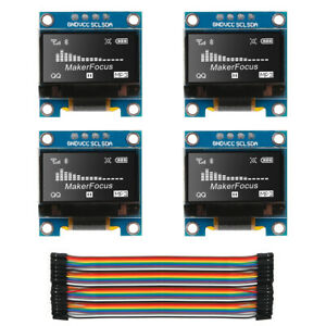 4 X 0 96 I2c Iic Serial Ssd1306 128 64 Oled Lcd Led Display Module For Arduino