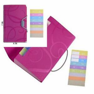 Cosmos 13 Pockets Expanding Files Folder Small Expandable File Hot Pink