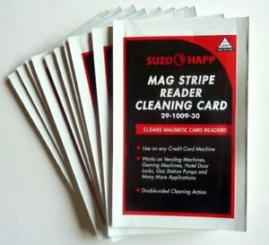 Cleaning Cards For Magnetic Stripe Credit Card Readers Lot 25