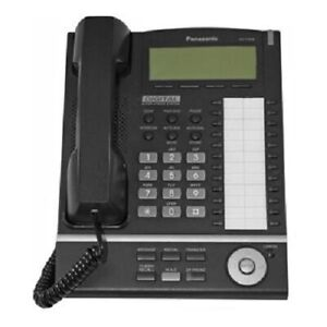 Panasonic Kx t7636 B Digital Display Speaker Telephone Black Kx tda50 Kx tda100