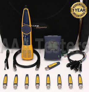 Fluke Networks Linkrunner Network Multimeter Intellitone 100 Probe Test Set