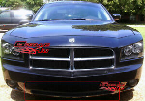 Fits 2005 2010 Dodge Charger Bumper Black Stainless Mesh Grille Fits 2010 Dodge Charger