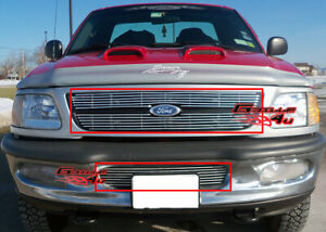 Fits 97 98 Ford F 150 4wd Expedition Billet Grille Combo