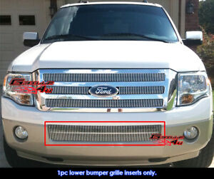 Fits 2007 2014 Ford Expedition Bumper Vertical Billet Grille Grill Insert