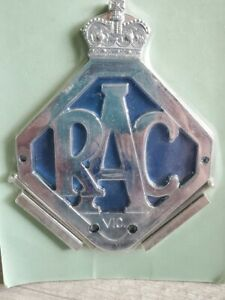 Vintage Royal Automobile Club Vic Car Badge Racv With Blue Background