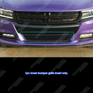 Fits 2015 2020 Dodge Charger W o Cruise Ctrl Lower Stainless Black Mesh Grille