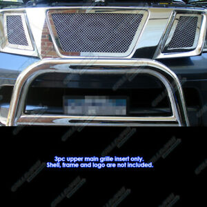 Fits 2005 2007 Nissan Pathfinder Stainless Steel Mesh Grille