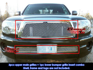 Fits 2005 2010 Toyota Tacoma Stainless Steel Mesh Grille Grill Combo Insert
