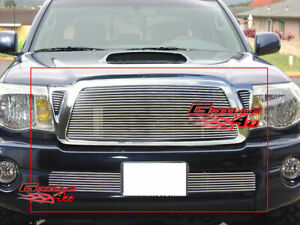 Fits 2005 2010 Toyota Tacoma Billet Grille Grill Combo Insert