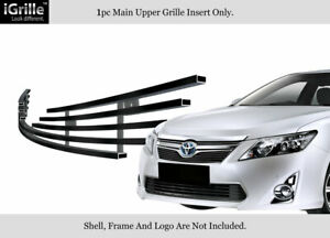 Fits 2012 2014 Toyota Camry Stainless Steel Black Billet Grille