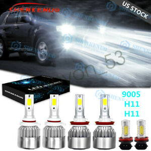 For Ford Explorer 2011 2015 Combo 9005 H11 Led Headlight H11 Fog Light Bulbs Kit