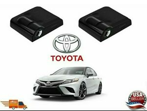 2 Pcs Wireless Led Car Door Logo Projectors Welcome Lights For Toyota