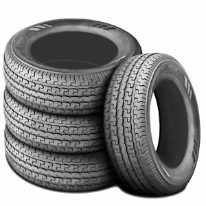 4 New Husky Gallant St 205 75r15 Load D 8 Ply Trailer Tires